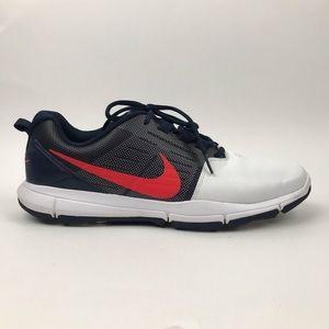 Nike Men's Explorer Ctrl Golf Shoes White Blue Red